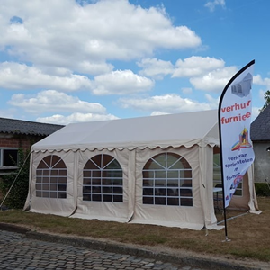 tent 3x6 levering + opbouw